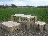diverse tafels van steigerhout