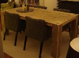 tafel steigerhout met doorgestoken poten