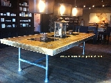 tafel steigerhout met steigerbuis