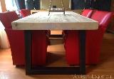 tafel steigerhout, stalen poten