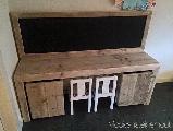 speeltafel steigerhout incl. schoolbord
