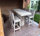 bar set van steigerhout