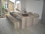 tafel steigerhout met dichte poten