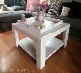salontafel van steigerhout, wit