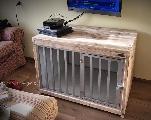 kamerkennel bench van steigerhout