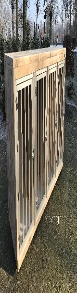 bench kamerkennel van steigerhout