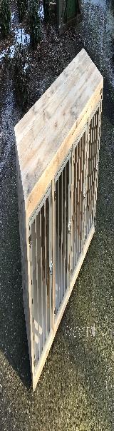 bench kamerkennel hondenhok steigerhout