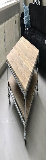 Salontafel met steigerbuis.
