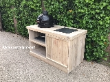 Barbecua tafel van steigerhout.