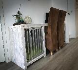 bench bureau van steigerhout.