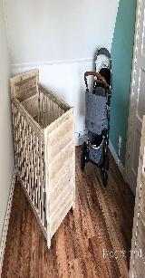 babykamer ledikant van steigerhout.