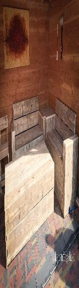 Loungeset van steigerhout.