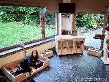 Bench van steigerhout.