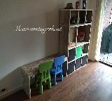 speeltafel steigerhout.